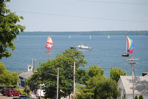 The Pilot House has the best Views of the Bayfield Harbor, Ferry, DTN, & Madeline Island.