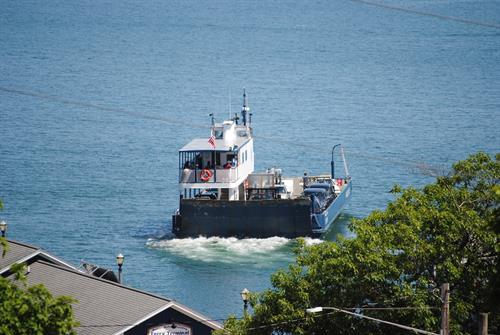 Walk just 1 block and you are on The Madeline Island Ferry.