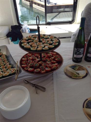 Fat Radish Catering on a Yacht