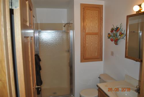 2nd Level (2nd) Bathroom with shower.
