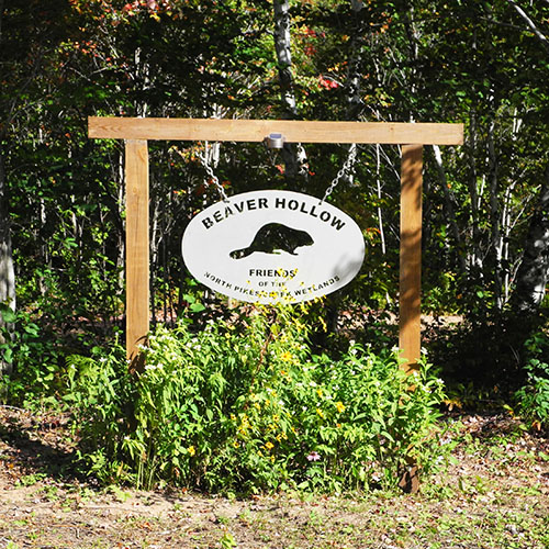 Beaver Hollow entrance sign
