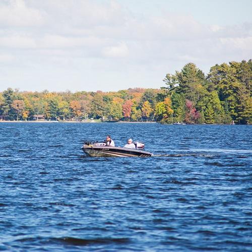 Boating on Lake Namakagon
