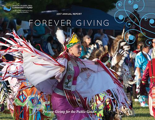Design and cover photo for Apostle Islands Area Community Fund 2017 annual report