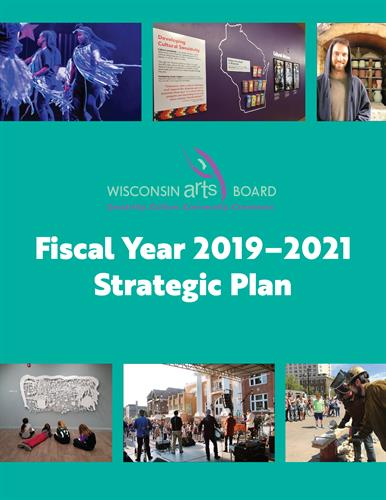Graphic design for Wisconsin Arts Board's strategic plan
