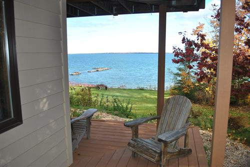 Outdoor chairs to relax on deck & balcony as well as along the lake.