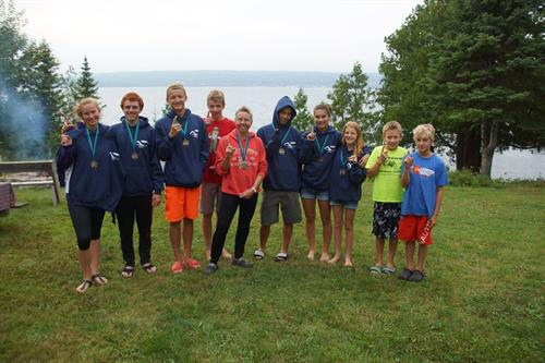 The Grutzner's youth team on Madeline Island