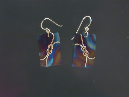 Earrings: Gold Filled Wire on Titanium