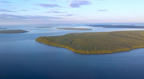 Aerial view of the Apostle Islands