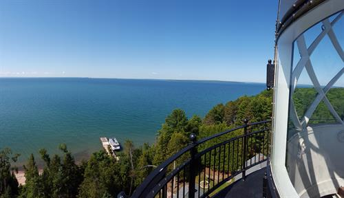 View from the Michigan Island lighthouse