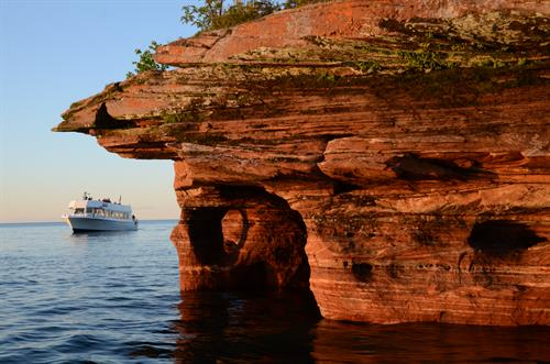Devils Island sea caves on the Evening Grand Tour