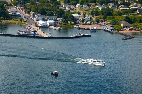 Superior Princess departing Bayfield harbor