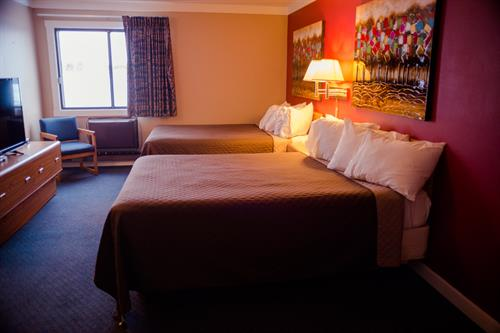Recently renovated rooms and a great location.