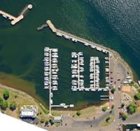 Aerial view of Apostle Islands Marina