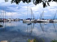 Clouds make the Apostle Islands Marina even more beautiful!