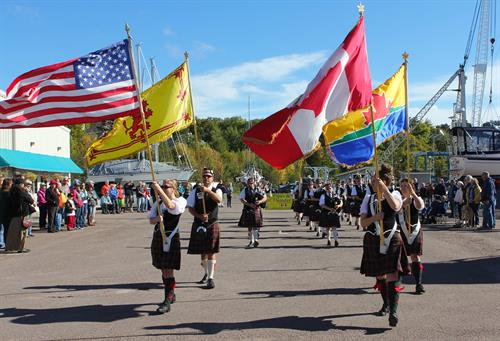 The Pipes and Drums of Thunder Bay at Port Superior