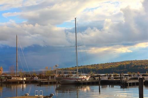 A quiet autumn day at Port Superior... Just a few boats left in the water.