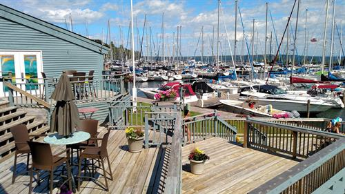 Outdoor Seating at Portside Bar + Restaurant in Bayfield, WI