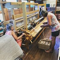 Warping the big loom
