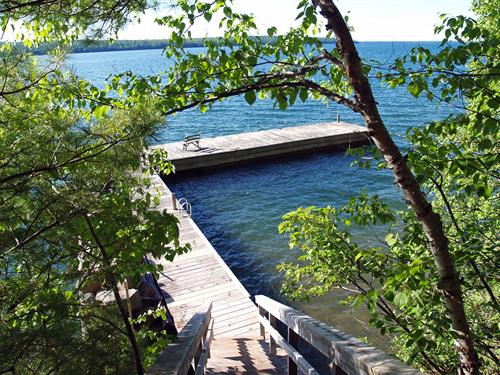 """Marvelous """"L"""" shaped dock and benches"""