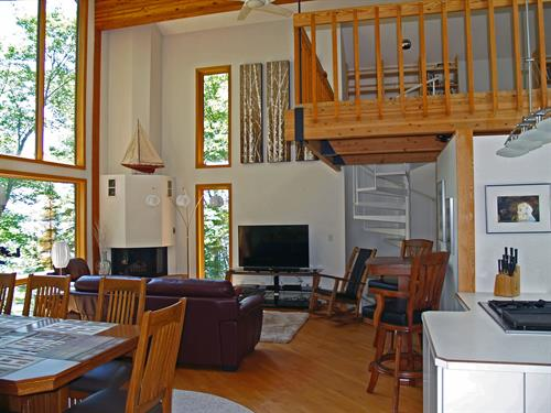 Great room and loft area