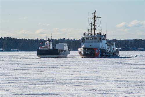 Two Ships in the Ice