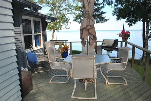 Relax on the Washburn Beach House Deck!