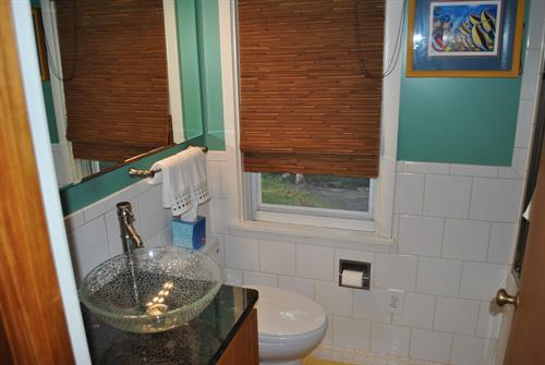 Bath with jetted tub/shower combo