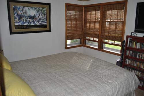2 Bedrooms each with a queen bed and 2 queen sofa sleepers in living room.