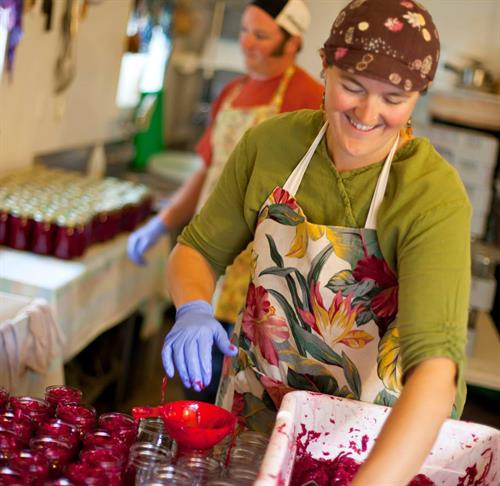 Jennifer & Andrew Sauter-Sargent of Spirit Creek Farm in Cornucopia, WI produce delicious fermented vegetables of all kinds.