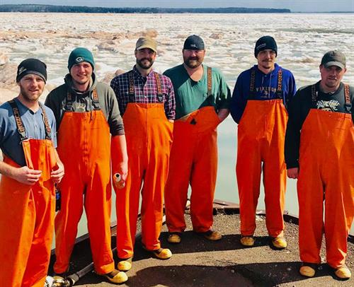 The crew at Bodin Fisheries in Bayfield, WI.
