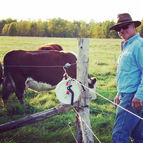 Toby Griggs, of Griggs Cattle Co. enjoys a sunny day on the farm.