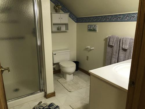 2nd level bath with shower
