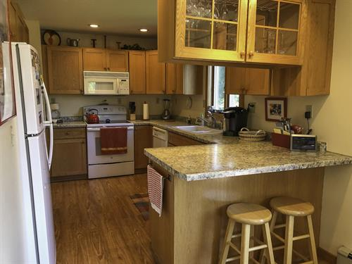 Well appointed kitchen on 1st level