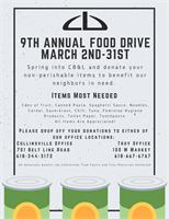 9th Annual Food Drive