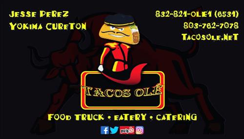 Tacos Ole' _business card