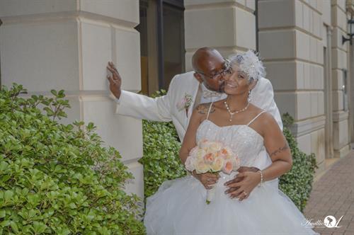 Wedding Bride + Groom Portrait