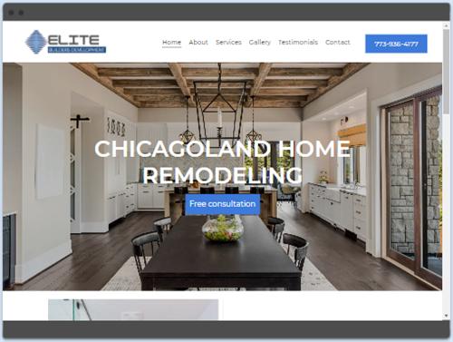 Elite Builders Development website