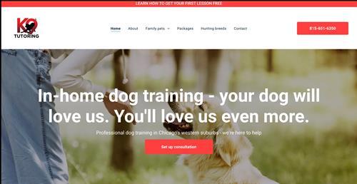 K9 Tutoring website.