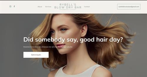 Rybell's Blowdry Bar website