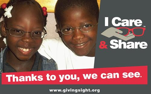 Giving Back with the iCare and Share program for every pair of glasses sold.
