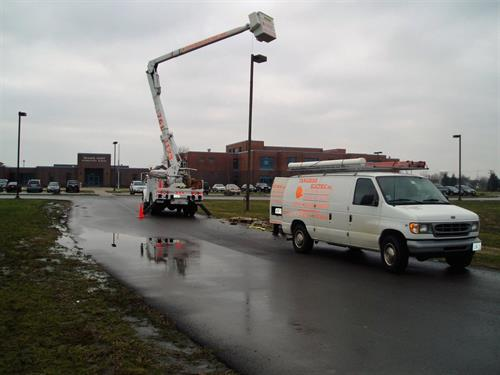 Installation of Road and Parking Lot Lighting