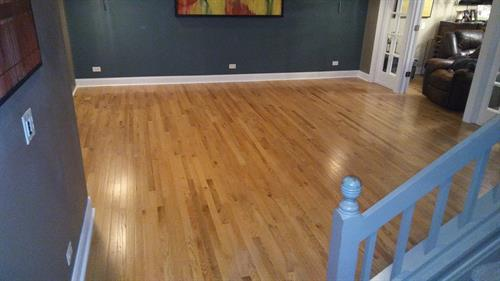 New hardwood floors to match the rest of their home.