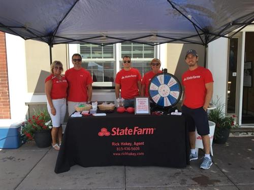 Team Hakey at the 2016 Plainfield Fest!