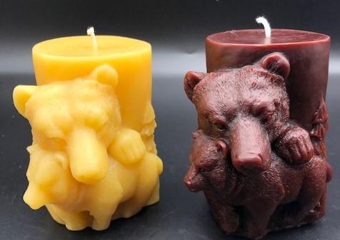 Bear Beeswax Candles