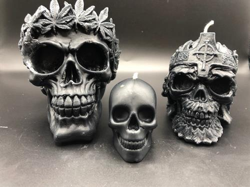 Skull Beeswax Candles