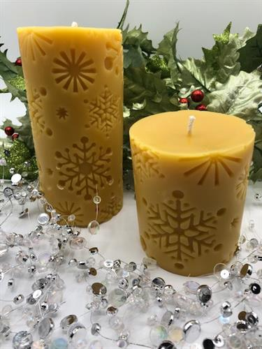 Snowflake Beeswax Candles