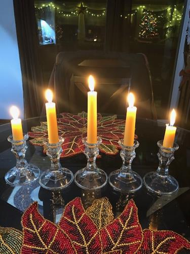 Taper Beeswax Candles burning