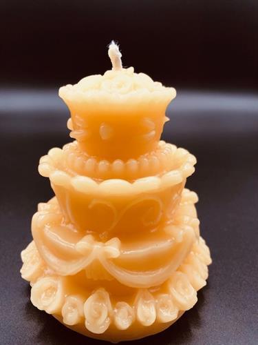 Wedding Cake Beeswax Candle