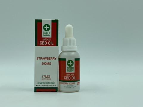 Isolate 500MG Strawberry CBD Oil