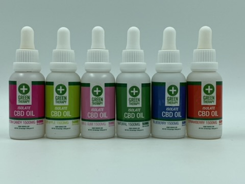 Isolate 1500MG CBD Oil Flavors